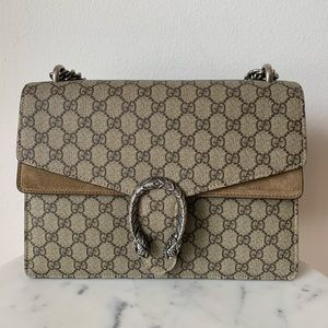 Authentic Gucci Dionysus Supreme GG Shoulder Bag
